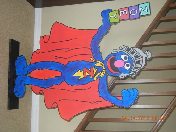 Super Grover Party Prop Standee