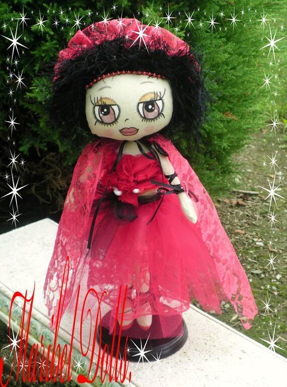 Red Riding Hood Art Cloth rag Doll (Fairytale).