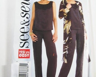 Sz 14/16/18 - See & Sew Pattern B4329 - Misses' Jacket, Top and Pants