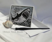 Shark Note Cards - package of 8