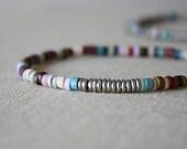 mini seed ceramic beads bracelet // handmade