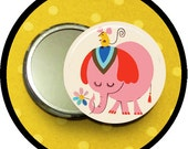 "so very Pink 2.25 inch pocket MIRROR, button or magnet 2 1/4"" size"