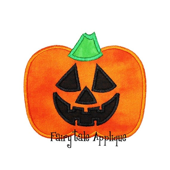 Digital Machine Embroidery Design - Jack-O-Lantern Applique