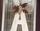 "Rustic Letter ""Wreath"""