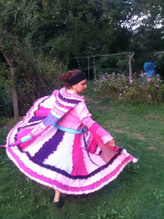 """Cotton Candy"""" upcycled sweater coat as inspired by the sewing Goddess Katwise"""