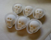 6 Sugar Skulls for You to Decorate - Plain Sugar Skulls - Paintable Candy Skulls - Day of Dead Craft Project - Halloween Craft Project