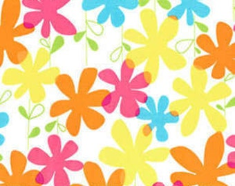 SALE! 1/4m Happy Flowers Brite
