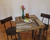 RESERVED for Tracy -- Reclaimed Pallet and Barn Wood Pub Bistro Kitchen Table - Crux