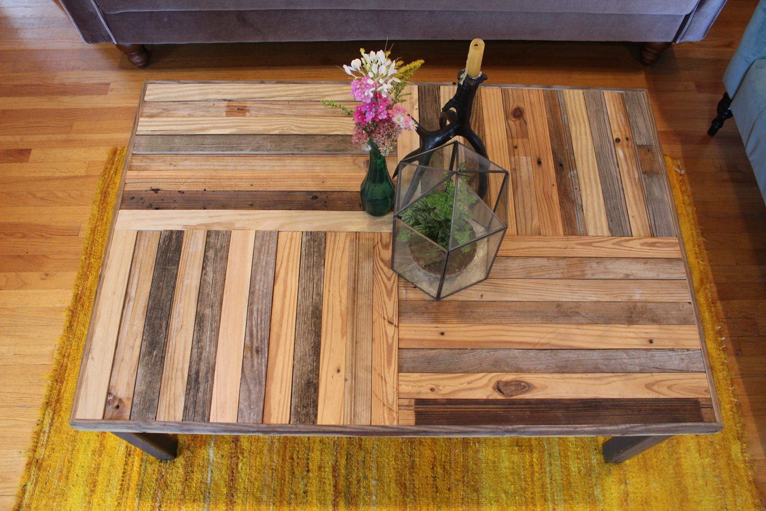 Wood Pallet Coffee Table ~ Reclaimed pallet and barn wood coffee table with by