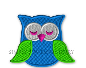 Mini Owl Machine Embroidery Design No. 44