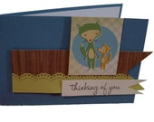 Foxy Friends, Dimensional Thinking of You card