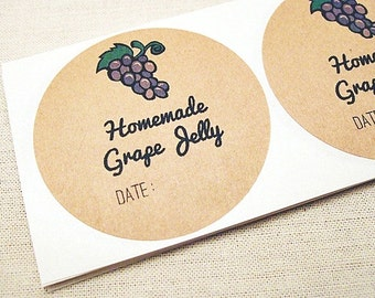 20 Mason Jar Labels for Homemade Grape Jelly Labels Canning Labels