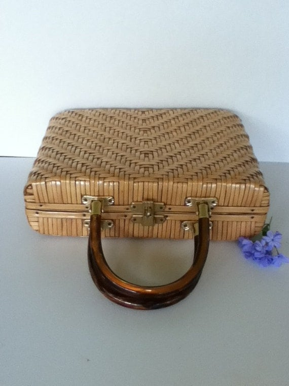 Vintage Woven Straw Purse