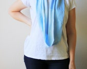 Infinity Scarf Light Blue Recycled T Shirt Scarf Bleached Womens Acessories