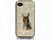 Kangaroo Dictionary Page iphone 4 case, iphone 4 cover