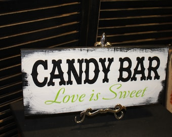 CANDY BAR Wedding Sign/U choose color/Great Shower Gift/Vintage Style/Lime Green