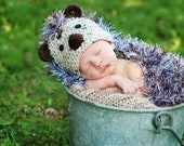 Crochet HedgeHog Hat with Critter Cape - PDF Pattern