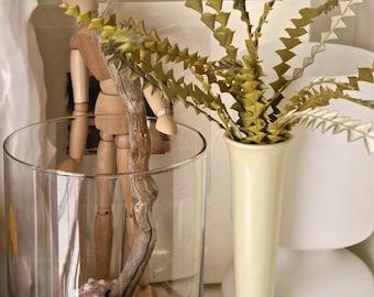 Vintage Flute vase in creamy white ceramic