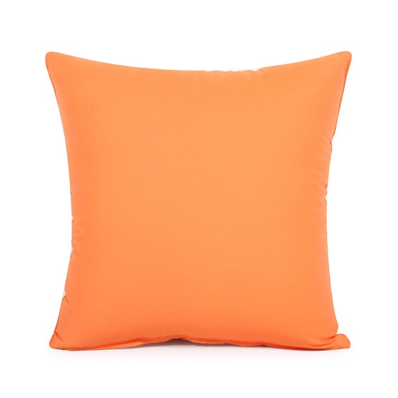 16 X 16 Solid Orange Throw Pillow Cover by BHDecor on Etsy
