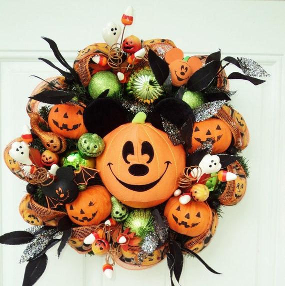 Halloween Disney Wreath Mickey Mouse Pumpkin
