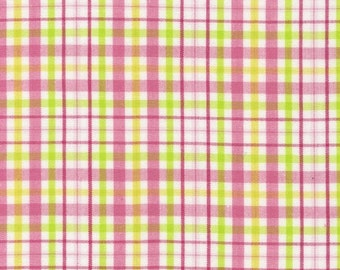 Robert Kaufman, Fabric by the Yard Kona Colorworks 2, Pink Plaid, APL-11216-236 Garden, 1 yd