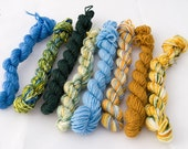 Hand painted SW merino sock yarn