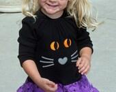 Girls t shirt dress pattern, Halloween cat dress pattern, pdf sewing pattern, HALLOWEEN TREATS