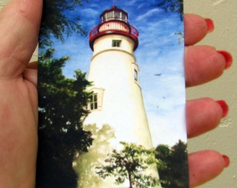 "ACEO Fine Art Print / From Original Watercolor /  Of a Lighthouse / Size 2.5""x 3.5"""