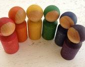 Rainbow Peg People
