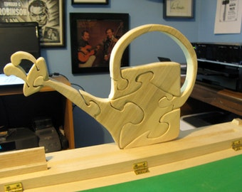 Grandma's Watering Can Wood Puzzle