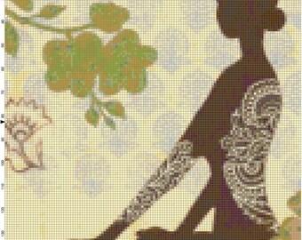 Balanced Yoga Life Handmade PDF Cross Stitch Pattern