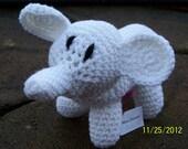 White Elephant Gift Crocheted Stuffed Animal