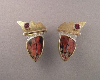 Red Tiffany Stone Earrings (4)