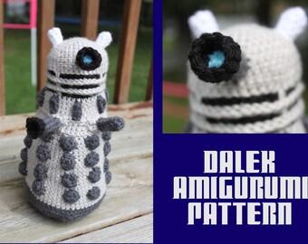 Crochet Pattern: Doctor Who Inspired Dalek Amigurumi PDF Instant Download