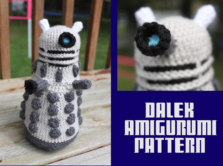 Crochet Pattern: Doctor Who Inspired Dalek Amigurumi PDF