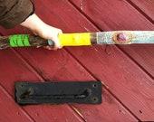 Tribal Hand painted walking stick/ hiking stick
