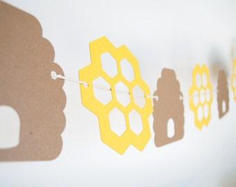 Honey Bee Comb Paper Garland 5 ft.