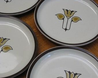 "Denby ""Kimberly"" Set of Four Dessert Bread Wedding Cake Plates"