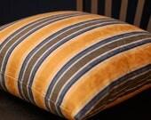 Blue Yellow White Stripe 16 Inch Throw Pillow Cover