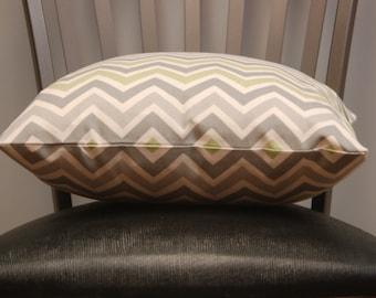 16 inch Premier Prints Chevron Pillow Cover Reed/Natural, Accent Sofa Pillow, Invisible zipper closure