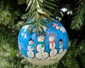 Custom Order Snowman Family