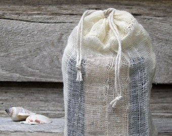 Gift - gift soap - muslin bag,  muslin drawstring bag / pouch