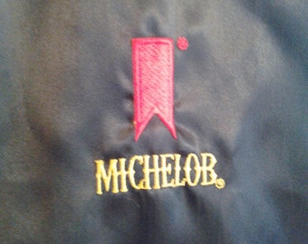 Vintage Michelob Black Satin Jacket