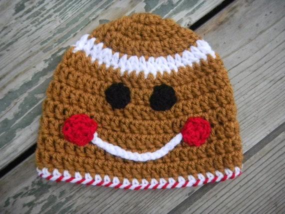 Free Crochet Pattern For Gingerbread Man Hat : Items similar to Gingerbread Man Crochet Hat Pattern ...