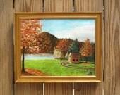 "Original oil painting ""Sunny Autumn Day"" (11""x14"")"