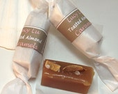 Toasted Almond Sea Salt Caramels - Two Dozen Caramels