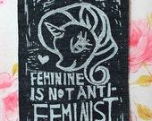 DENIM Feminine Is Not Anti-Feminist Patch featuring Rarity- My Little Pony