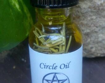 Circle Oil, Hoodoo, Conjure, Spiritual, Ritual, Altar, Sacred Space, Pagan, Wiccan