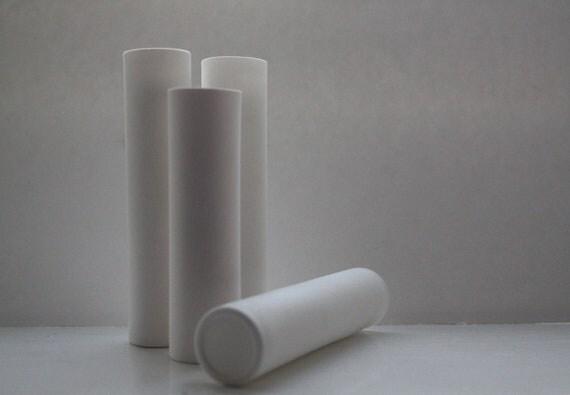 Tube vase made out of stoneware English fine bone china - bud vase