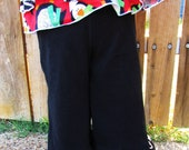 Girls ruffle pants-corduroy. Fall black corduroy ruffle pants or capris in sizes 12 months, 2T, 3T, 4, 5, 6